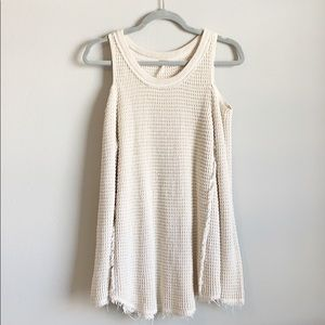Free People Cold Shoulder Sweater Sz S